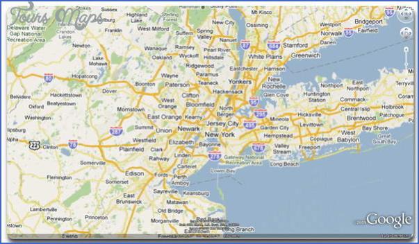 New York Map Google Earth Toursmaps Com