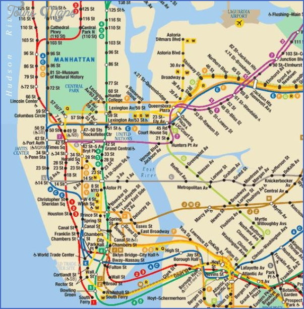 New York Metro Map - ToursMaps.com ®