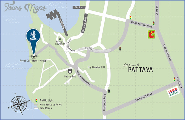 pattaya thailand map location  0 Pattaya Thailand Map Location