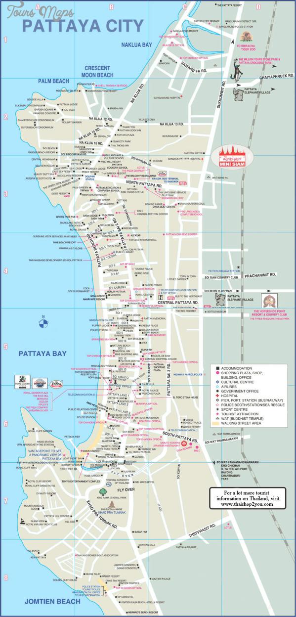 pattaya thailand map tourist attractions 1 Pattaya Thailand Map Tourist Attractions