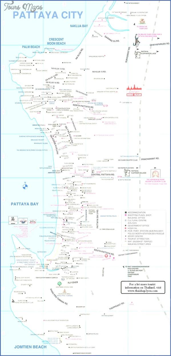 pattaya thailand map tourist attractions 10 Pattaya Thailand Map Tourist Attractions