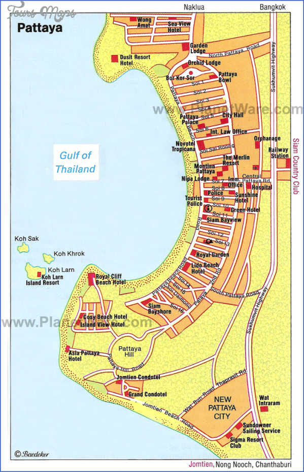 pattaya thailand map 0 Pattaya Thailand Map