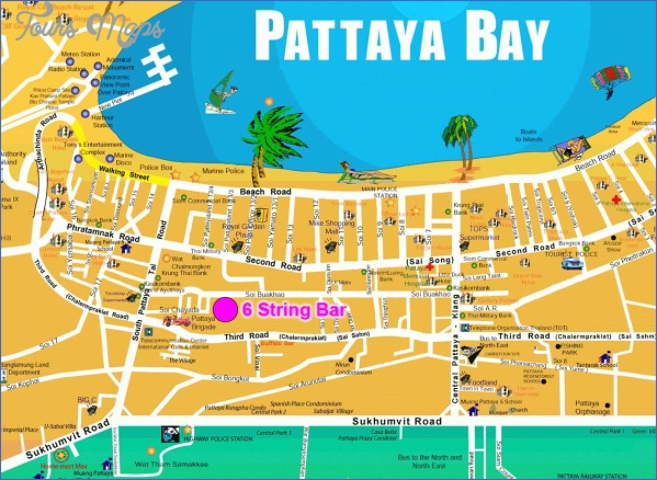 pattaya thailand map 4 Pattaya Thailand Map
