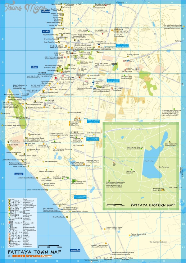 pattaya thailand map 5 Pattaya Thailand Map