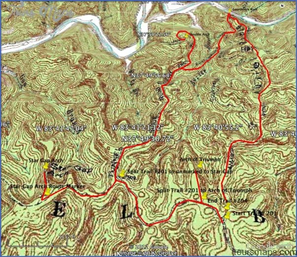Red River Gorge Hiking Map Toursmaps Com