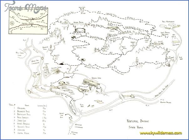 red river gorge hiking map 13 Red River Gorge Hiking Map