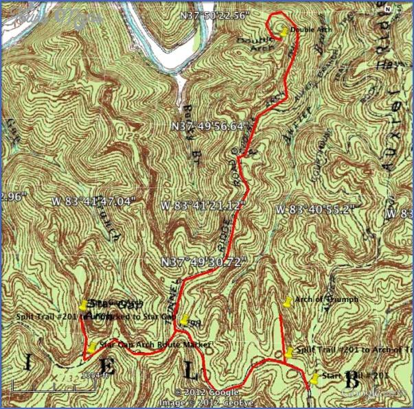 red river gorge hiking map 14 Red River Gorge Hiking Map