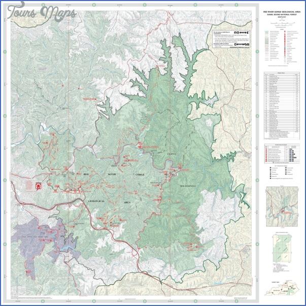 red river gorge hiking map 5 Red River Gorge Hiking Map