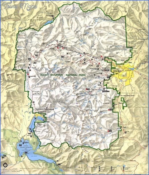 rocky mountain national park hiking map 10 Rocky Mountain National Park Hiking Map