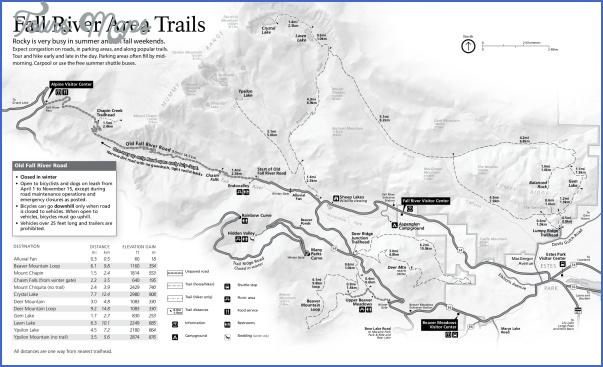 Rocky Mountain National Park Hiking Map - ToursMaps.com ®