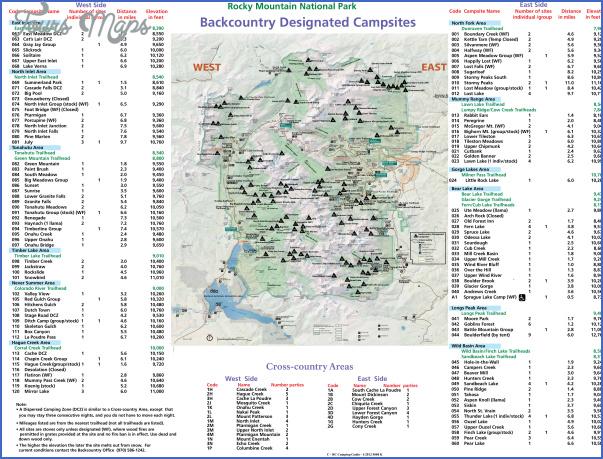 rocky mountain national park hiking map 14 Rocky Mountain National Park Hiking Map