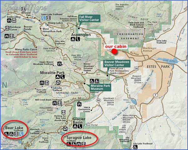 rocky mountain national park hiking map 4 Rocky Mountain National Park Hiking Map
