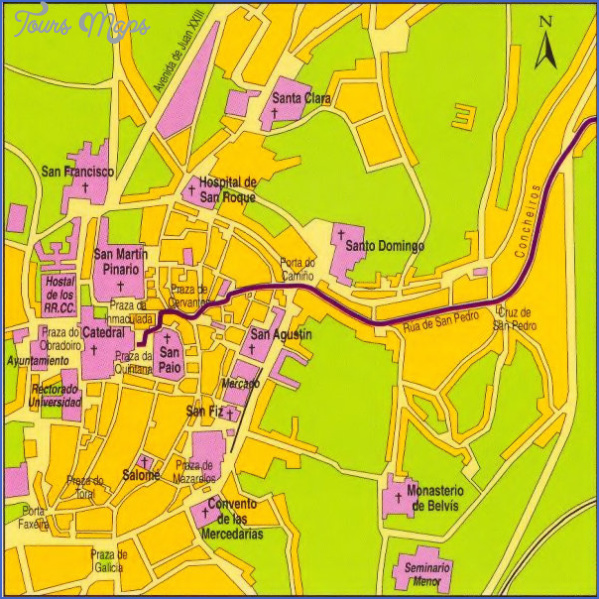 santiago de compostela map of cities  4 Santiago de Compostela Map Of Cities