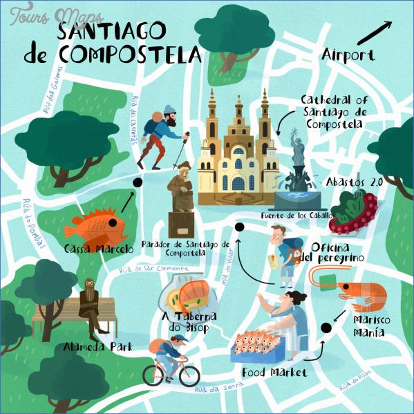 santiago de compostela map of cities  6 Santiago de Compostela Map Of Cities
