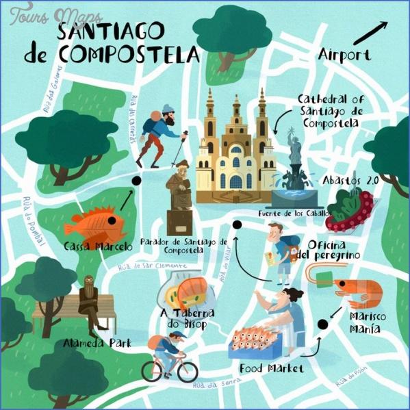 santiago de compostela map of the world  13 Santiago de Compostela Map Of The World