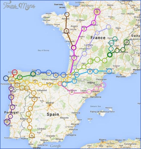 santiago de compostela map road  11 Santiago de Compostela Map Road