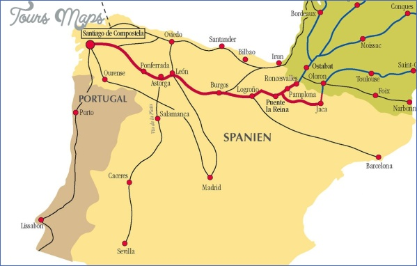 santiago de compostela map road  2 Santiago de Compostela Map Road