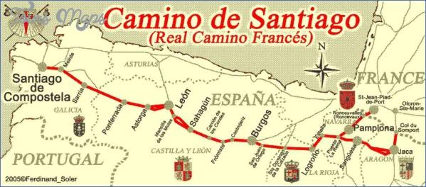 santiago de compostela map road  3 Santiago de Compostela Map Road