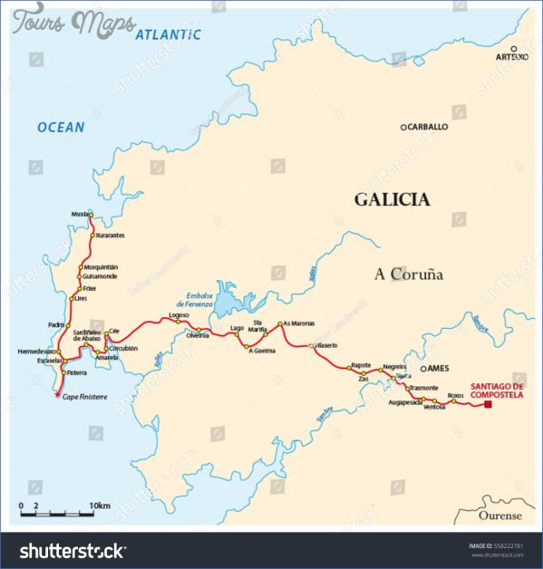 santiago de compostela map world atlas  0 Santiago de Compostela Map World Atlas