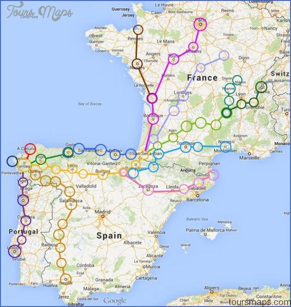 Santiago De Compostela Map World Atlas Toursmaps Com