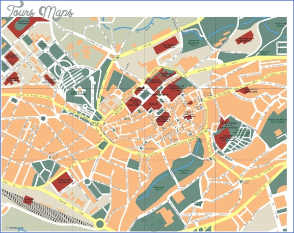 santiago de compostela map world atlas  13 Santiago de Compostela Map World Atlas