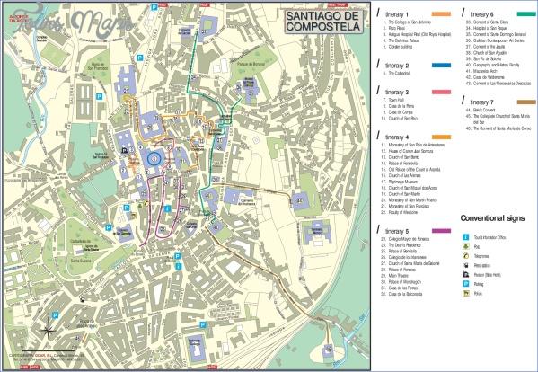 santiago de compostela map world atlas  6 Santiago de Compostela Map World Atlas