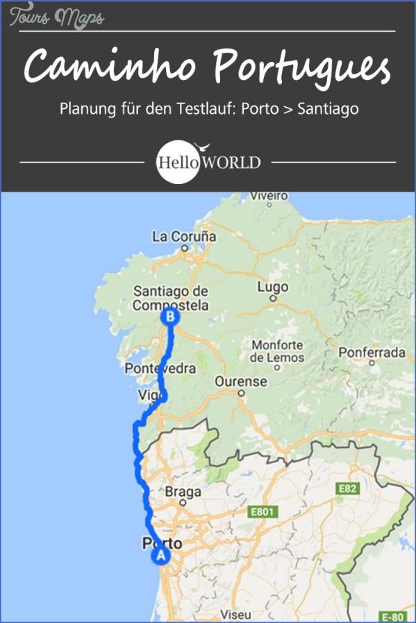 santiago de compostelan mountains map  3 Santiago de Compostelan Mountains Map