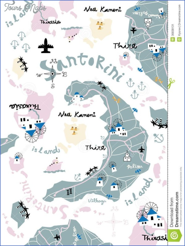 santorini attractions map 2 Santorini Attractions Map