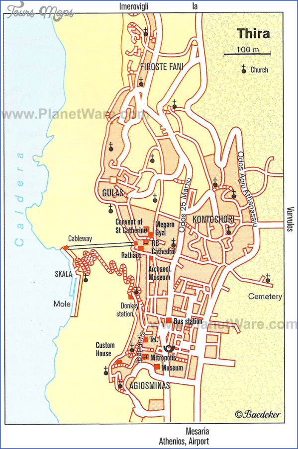 santorini attractions map 7 Santorini Attractions Map