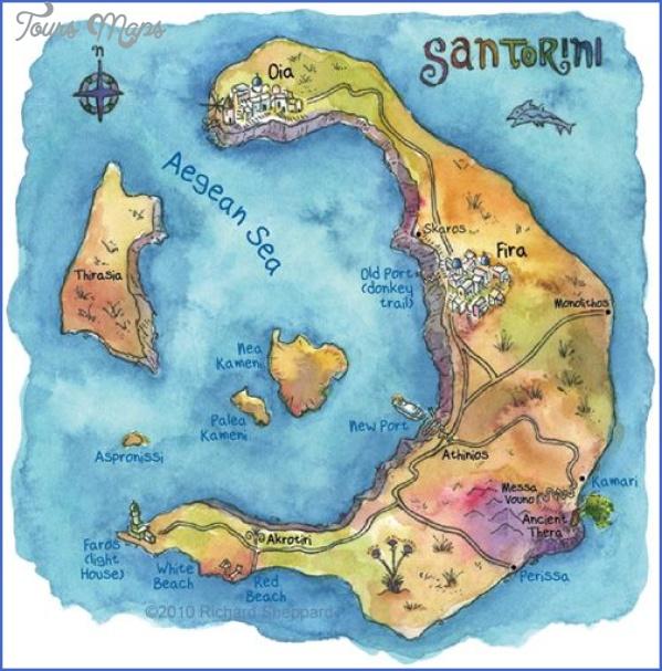 santorini map in world map 11 Santorini Map In World Map