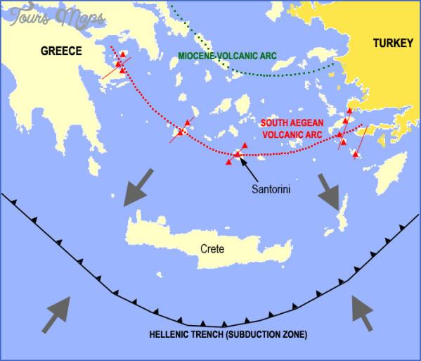 santorini map in world map 6 Santorini Map In World Map