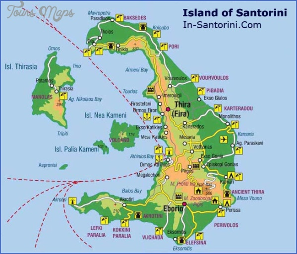 santorini map tourist attractions 1 Santorini Map Tourist Attractions