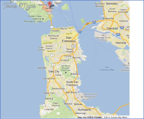 sausalito map san francisco 5 SAUSALITO MAP SAN FRANCISCO