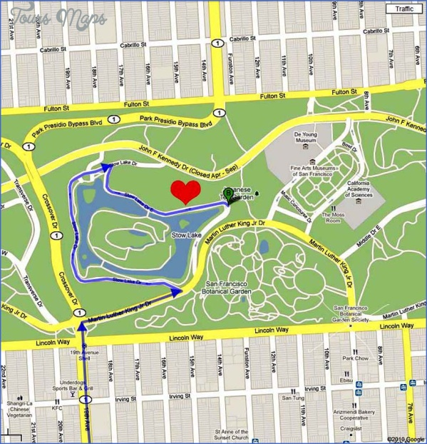 stow lake map san francisco 7 Stow Lake MAP SAN FRANCISCO