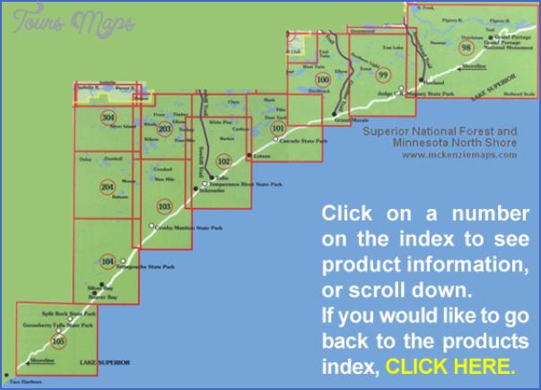 superior hiking trail map 14 Superior Hiking Trail Map
