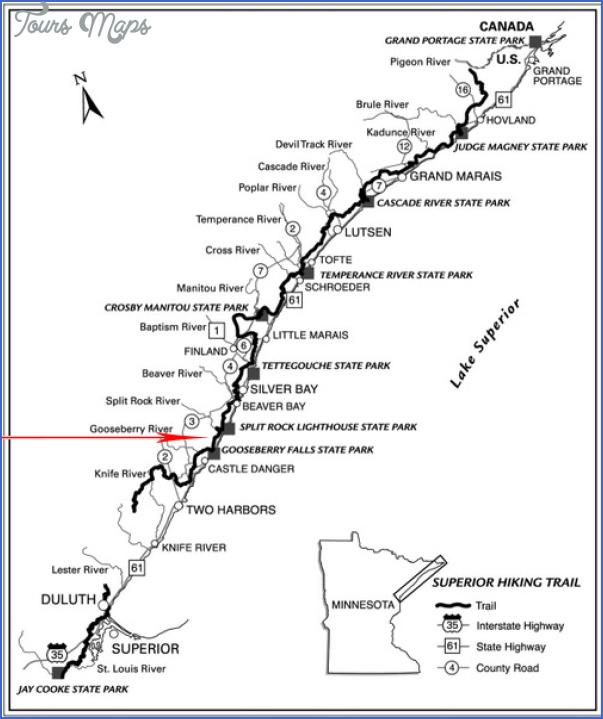 superior hiking trail map 4 Superior Hiking Trail Map