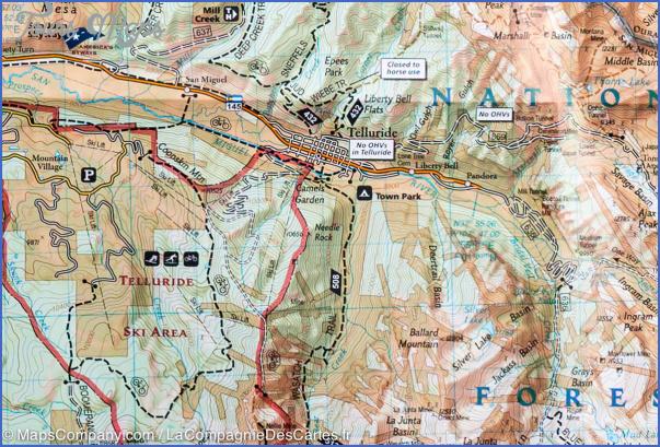 telluride hiking trail map 12 Telluride Hiking Trail Map
