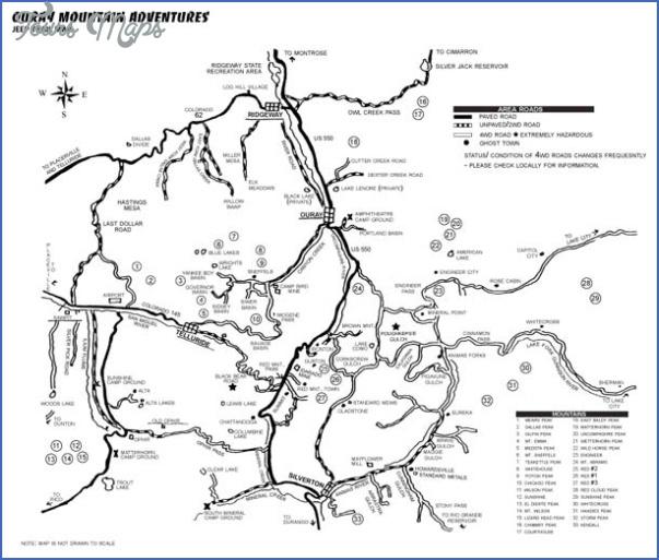 telluride hiking trail map 4 Telluride Hiking Trail Map