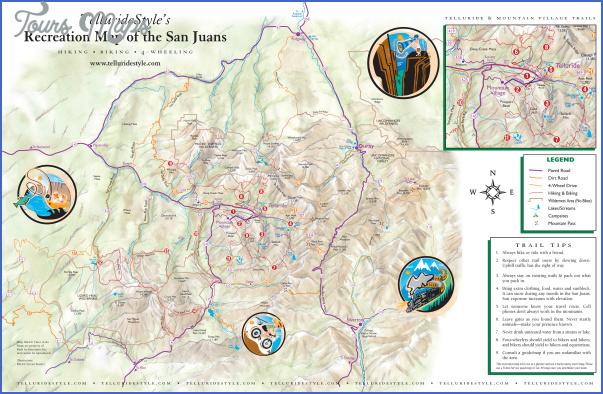 telluride hiking trail map 7 Telluride Hiking Trail Map
