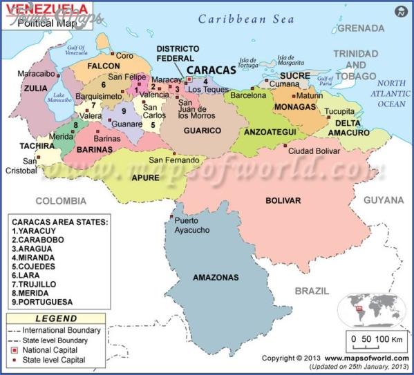venezuela map 12 Venezuela Map