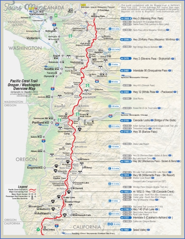 washington hiking trails map 14 Washington Hiking Trails Map