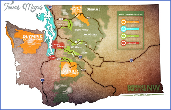 washington hiking trails map 6 Washington Hiking Trails Map