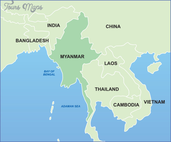 Where Is Burma Located On The Map - ToursMaps.com ®
