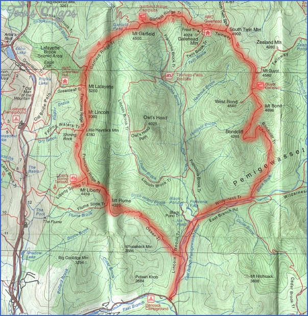 white mountain hiking map 12 White Mountain Hiking Map