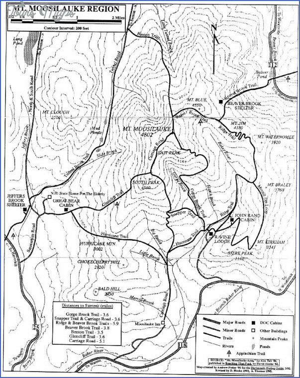 white mountain hiking map 13 White Mountain Hiking Map