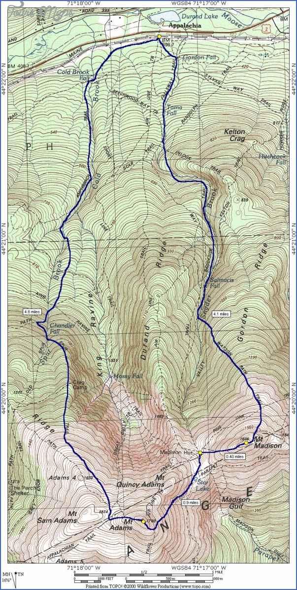white mountain hiking map 2 White Mountain Hiking Map