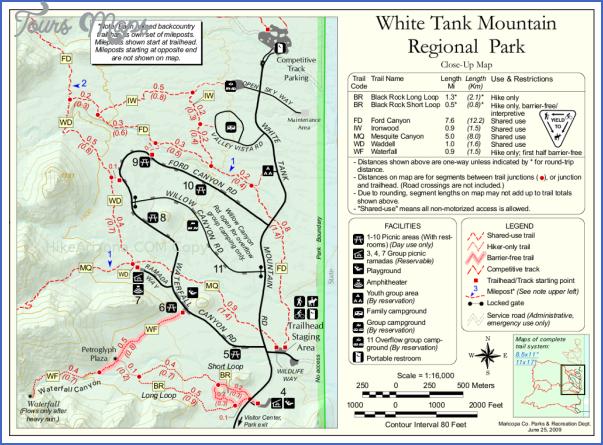 white mountains hiking map 13 White Mountains Hiking Map