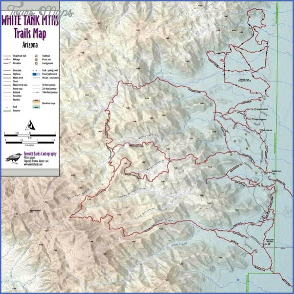 white mountains hiking map 9 White Mountains Hiking Map