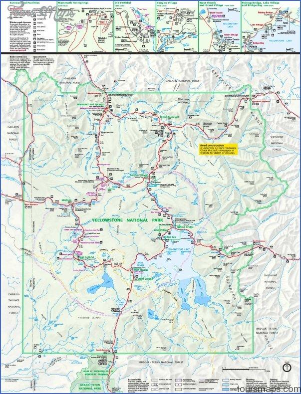 yellowstone hiking map 0 Yellowstone Hiking Map