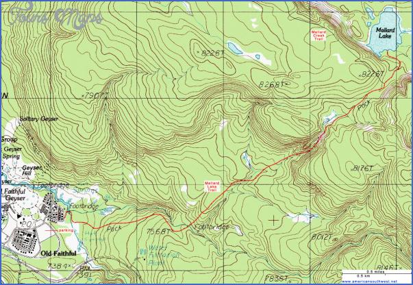 yellowstone hiking map 11 Yellowstone Hiking Map